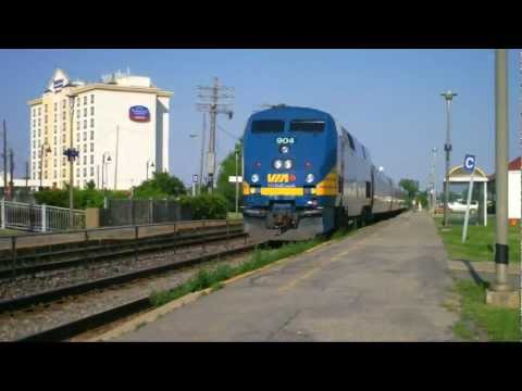 Railfanning Montreal - Dorval PQ  AMT Action and VIA 904 Departs  (June 11, 2012)