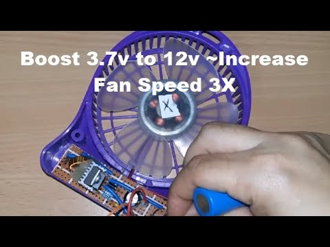 Step up boost converter upgrade portable mini fan speed 3 times - LM2577