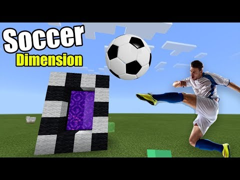 PORTAL to the Soccer Dimension | Minecraft PE