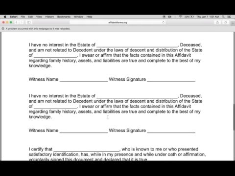 How to Write a Small Estate Affidavit Form