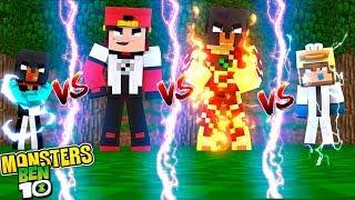 Minecraft Versus - BEN10 OMNITRIX ALIENS - WHO IS THE STRONGEST CHALLENGE?