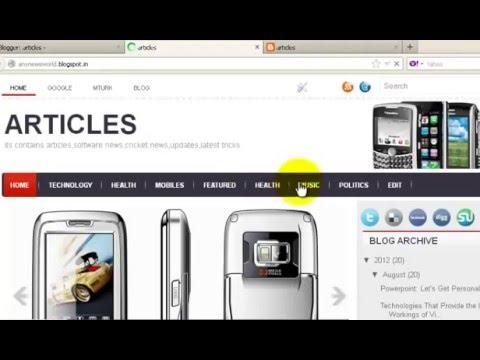 how to Create Navigation menu Bar HTML & Css