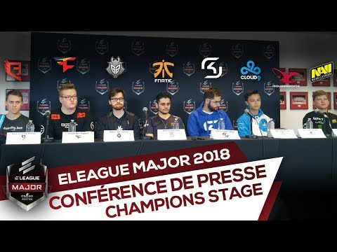 Conférence de presse : Legends Stage - ELEAGUE Major Boston 2018