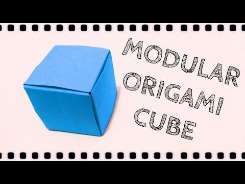 Modular Origami: Cube 3D (6 unit)