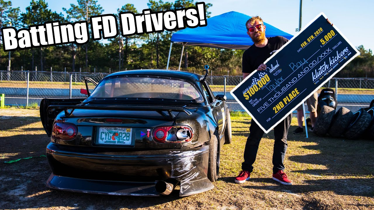 Battling For $10,000 In the FINALS Against PRO FD Drivers In my 350Hp LS Miata!! *David VS Goliath?*