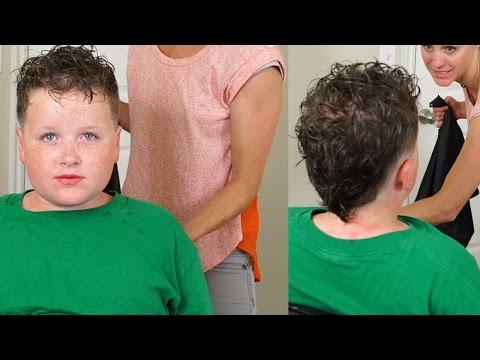 How to cut Boys Curly Hair // Stylish boys fohawk