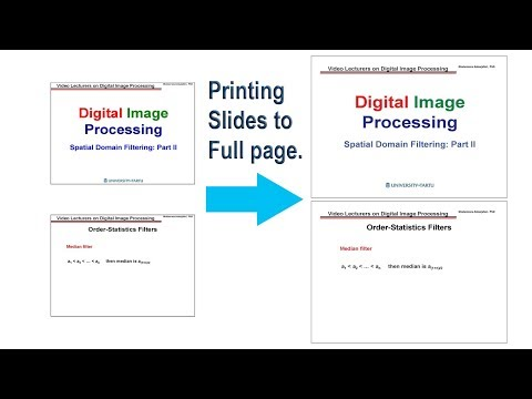 How to print powerpoint slide on a full page.
