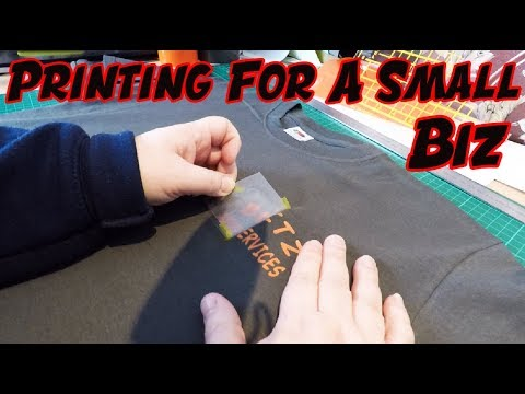 Printing T Shirts And Clothing For A Small Business