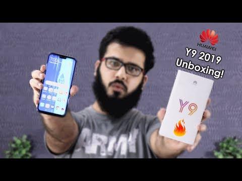 Huawei Y9 2019 Unboxing & First Impressions! Urdu/Hindi