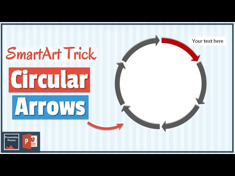 How to create Circular Arrows in PowerPoint using SmartArt