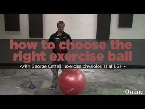 Fitness Friday: How to choose the right exercise ball