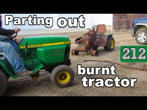 Parting out burnt John Deere 212