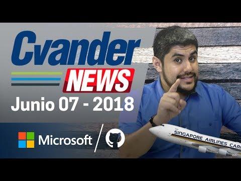 Microsoft compra GITHUB; novedades en el WWDC2018; Twitter al alza | CvanderNews
