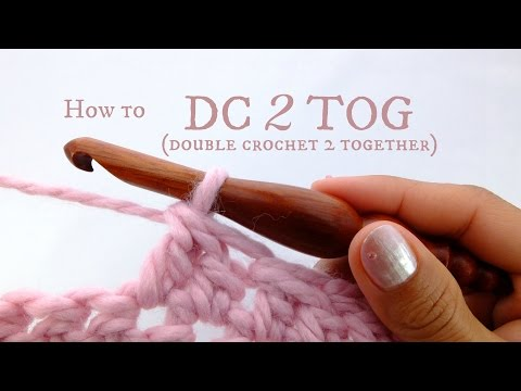 How to DC2TOG (double crochet 2 together) - beginner crochet tutorial!