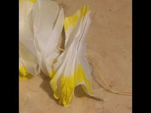 Super low budget DIY tissue paper Lei