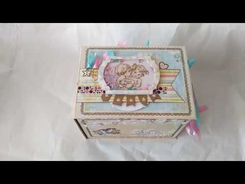 Embroidery shaker element, scrapbook album box