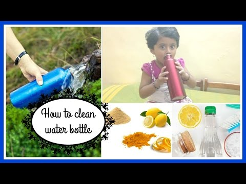 HOW TO CLEAN WATER BOTTLE II  CHEMICAL FREE CLEANING II