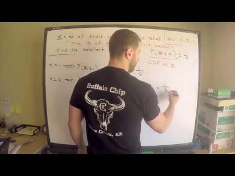 Geometric Distribution Example   Exam P