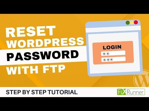 Reset your Admin Password in WordPress with FTP