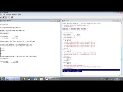 Statistics with R (3) - Generalized, linear, and generalized least squares models (LM, GLM, GLS)