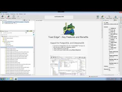 Understanding the user interface in Toad Edge