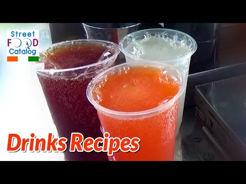 Indian Cool Drinks Sugandhi Soda | Drinks Recipes | Five Easy Refreshing Colorful Holi Recipes