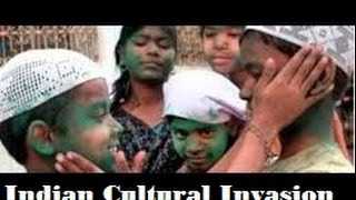 Pakistani youth celebrating Holi and Diwali Due to Indian Cultural invasion on Pakistan