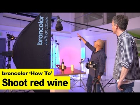 Karl Taylor & Broncolor 'How To' shoot red wine