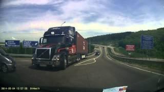 Amazing Volvo truck braking