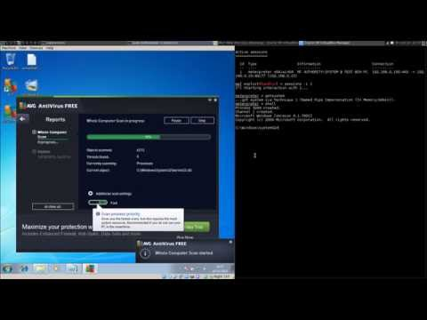 Metasploit Full Tutorials - Gain SYSTEM and Evade AV AVG with Magic Unicorn