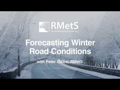 Forecasting Winter Road Conditions