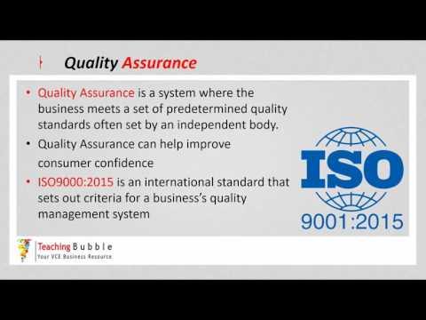 VCE Business Management - Quality Management