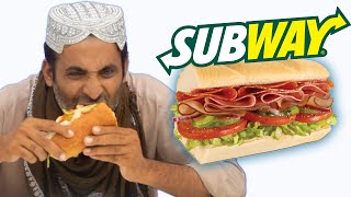 Tribal People Try Subway For The First Time