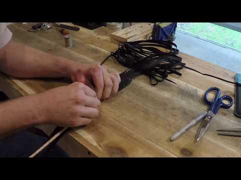 How to make a kangaroo stock whip Part 2