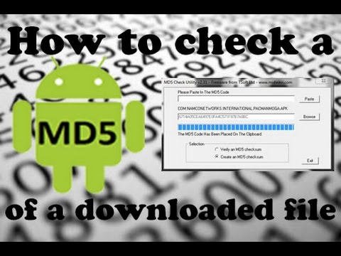 How to Check a files MD5 on Windows or Android