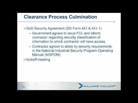 Government Contracting Seminar: Security Clearance - April 23, 2015