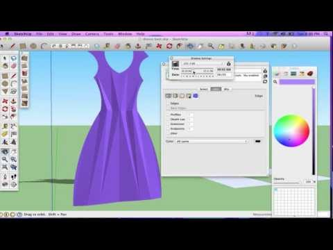 SketchUp Tutorial: Creating Clothes with Follow Me Tool, Move Tool and From Contours