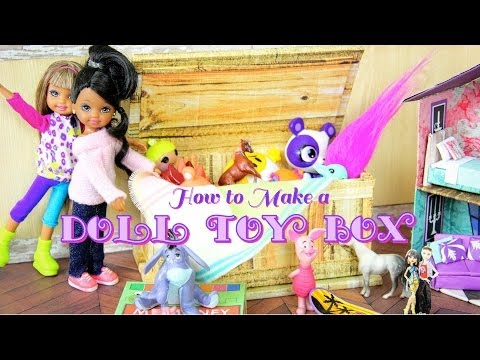 DIY - How to Make: Doll Toy Box, Tack Box, Coffee Table, Trunk - Handmade - Doll - Crafts