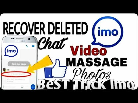 How to recover deleted photo or video from imo Best Imo Trick
