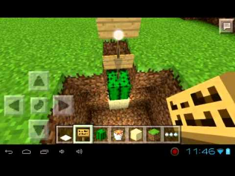 Minecraft pe how to make a carpet death trap 0.8.1