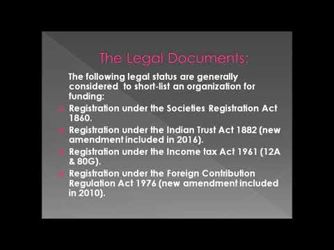 Basic Criteria # Basic Legal Documents # Raising Funds for NGO
