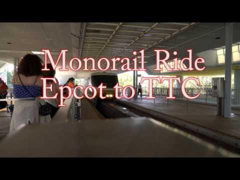 Monorail Ride from Epcot to The Transportation and Ticket Center TTC | FL Attractions 360