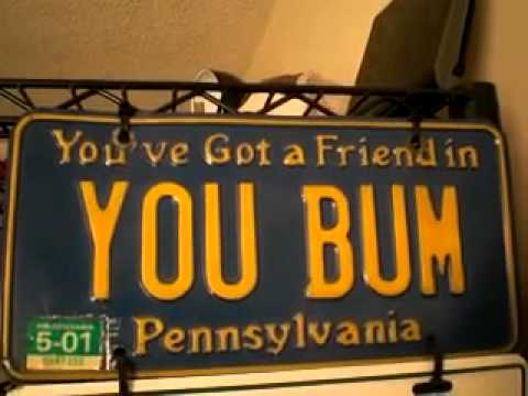 My Old License Plate