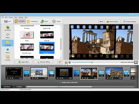 How to Make a Photo Slideshow with Music and 3D Animation - SmartSHOW 3D Tutorial