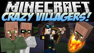 Minecraft   CRAZY VILLAGERS! (Exploding Heads & Villager Bows!)   Mod Showcase