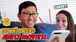 Caught Downloading Adult Movies! (pranking a YouTuber