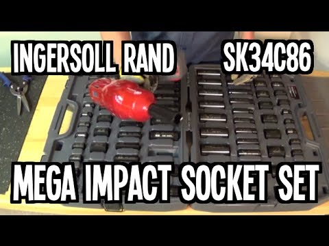 Ingersoll Rand SK34C86 - Mega Impact Socket Set