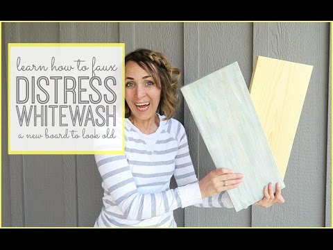 How to faux Distress Whitewash a board