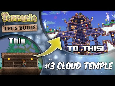 Terraria 1.3 Let's Build Series Ep3: Floating Island Cities! | Terraria house design tutorial