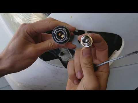 LED signal/brake bulb prep and install on older cars.